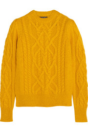 Gayle cable-knit alpaca-blend sweater