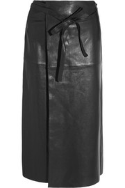 Isabel Marant Candy leather wrap skirt