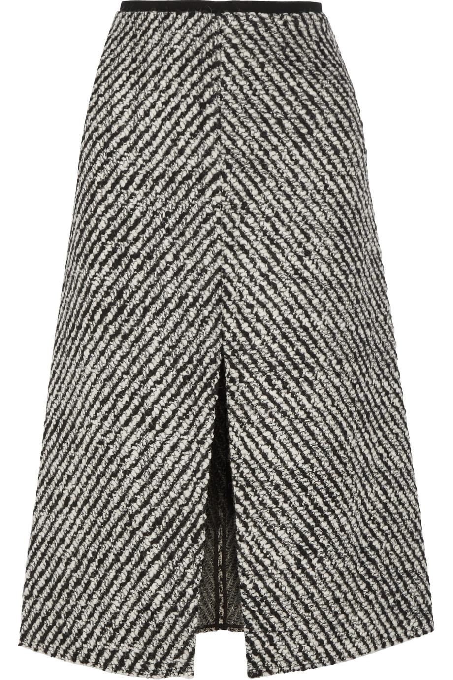 Isabel Marant Inko Tweed Skirt, Black, Women's, Size: 34