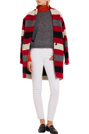 Étoile Isabel Marant Gabrie striped wool-blend bouclé coat