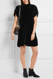 Étoile Isabel Marant Lazy velvet mini dress