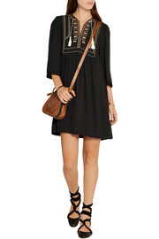 Étoile Isabel Marant Clara embroidered crepe mini dress