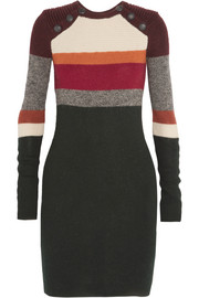 Duffy striped wool mini dress