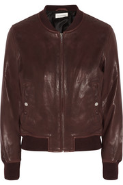 Brantley leather bomber jacket
