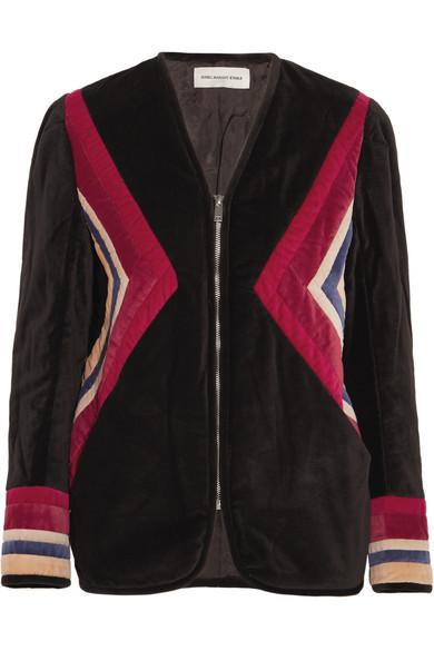 Étoile Isabel Marant - Lalia Paneled Velvet Jacket - Black