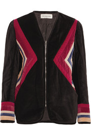 Lalia paneled velvet jacket