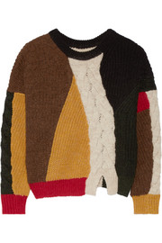 Gao cable-knit and ribbed alpaca-blend sweater