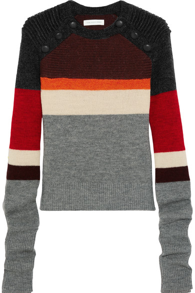Étoile Isabel Marant - Doyle Striped Wool Sweater - Gray