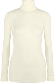 Joey wool-jersey turtleneck top