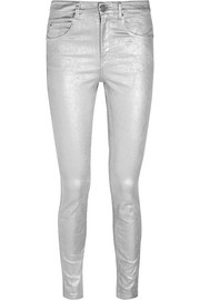 Étoile Isabel Marant Ellos metallic coated high-rise skinny jeans