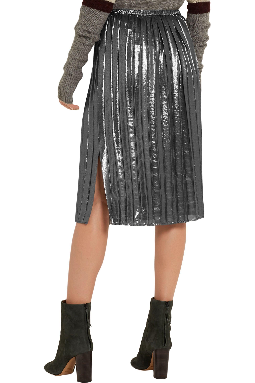 Isabel Marant Étoile Madlen pleated lamé skirt