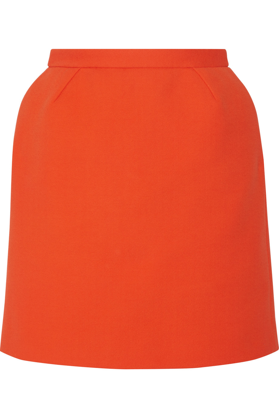 Delpozo Cotton-Blend Crepe Mini Skirt, Bright Orange, Women's, Size: 38