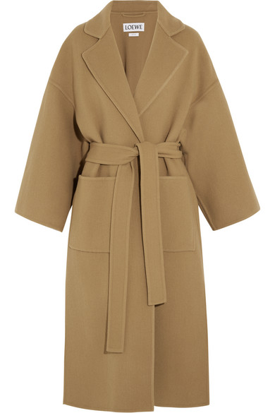 Loewe - Belted Wool And Cashmere-blend Coat - Camel