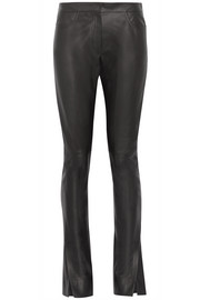 Loewe Leather flared pants