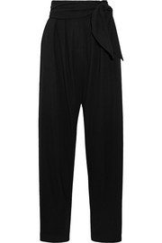 Loewe Cropped wool-blend twill tapered pants