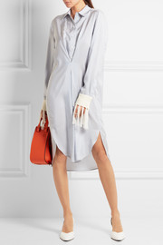 Loewe Tassel-trimmed striped silk dress