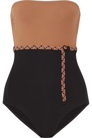 + Véronique Leroy Sterling belted bandeau swimsuit