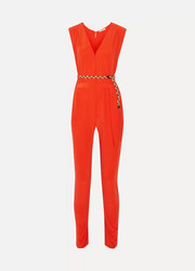 + Véronique Leroy Georges silk-crepe jumpsuit