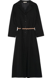 + Véronique Leroy Lee belted cotton-gauze midi dress