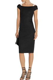 Antonio Berardi Cutout scuba-modal dress