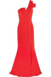 Antonio Berardi One-shoulder stretch-cady gown