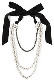 Lanvin Mariepol burnished silver-plated faux pearl necklace
