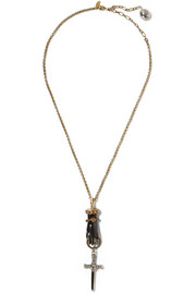 Marella gold and silver-plated crystal necklace