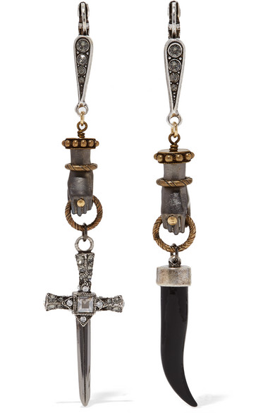 Lanvin - Marella Gold And Silver-plated Crystal Earrings