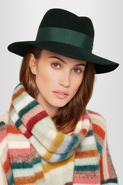 Virginie grosgrain-trimmed rabbit-felt fedora