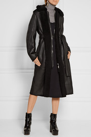 Acne Studios Fergus leather-paneled shearling coat