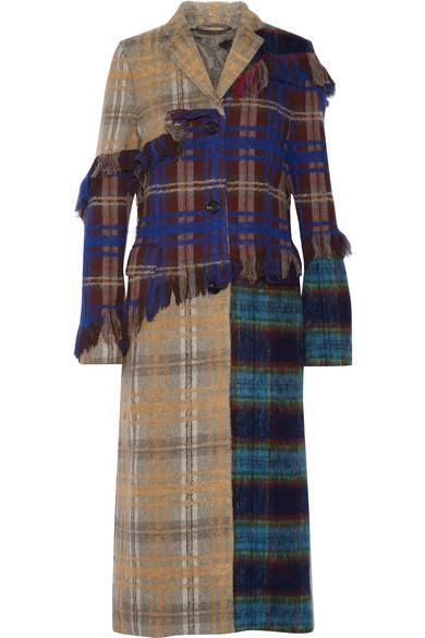 a1fcd879c445 Acne Studios   Manteau en patchwork de laine mélangée à carreaux ...