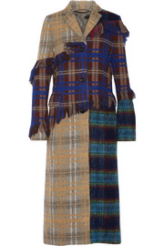 Acne Studios Alexa Punk Pa patchwork checked wool-blend coat