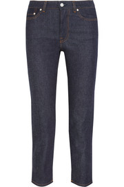 Row Raw cropped mid-rise straight-leg jeans