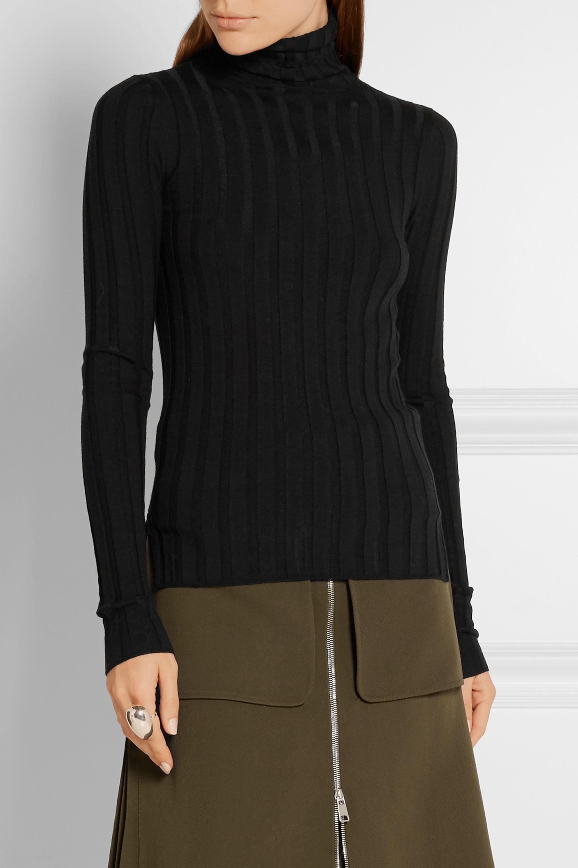 Acne Studios Corin ribbed merino wool-blend turtleneck sweater
