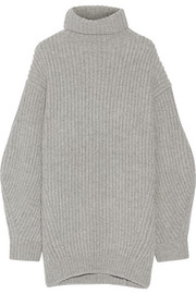 Isa ribbed wool turtleneck sweater