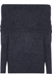 Daze off-the-shoulder knitted sweater