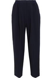 Milica cropped crepe straight-leg pants