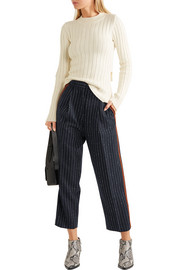 Acne Studios Milli cropped pinstriped wool-blend twill straight-leg pants