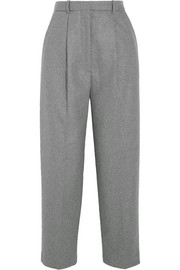 Milli cropped wool-blend wide-leg pants