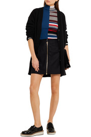 Prisca wool-blend twill mini skirt