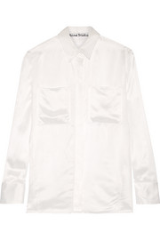 Momo Vi Tw satin-twill shirt