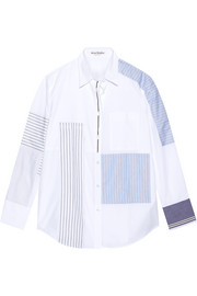 Sela patchwork cotton-poplin shirt