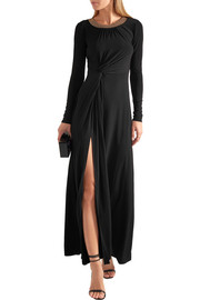 MICHAEL Michael Kors Twist-front studded stretch-jersey maxi dress