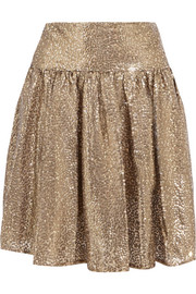 Sequined tulle mini skirt