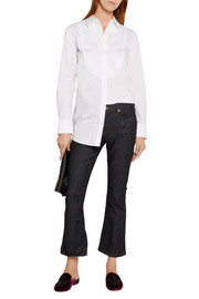 MICHAEL Michael Kors Piqué-paneled stretch-cotton shirt