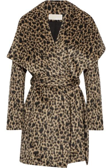 MICHAEL Michael Kors - Leopard-print Faux Fur Wrap Coat - Leopard print