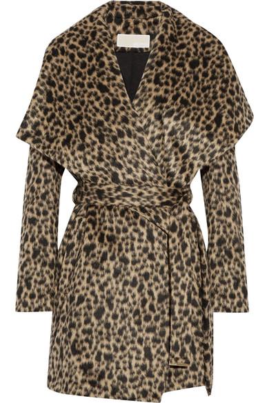 51862b5149f7 MICHAEL Michael Kors | Leopard-print faux fur wrap coat | NET-A ...
