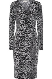 MICHAEL Michael Kors Wrap-effect leopard-print stretch-jersey dress