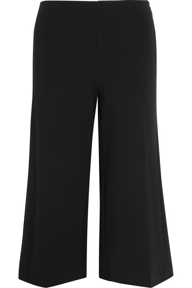 MICHAEL Michael Kors - Cropped Stretch-jersey Wide-leg Pants - Black