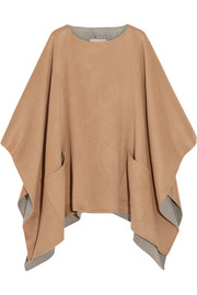 Double-faced felt poncho